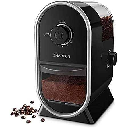 SHARDOR Electric Burr Coffee Grinder with 14 Grind Settings, Adjustable Burr Mill Coffee Bean Grinder for Espresso, Drip Coffee, French Press and Percolator Coffee, Cleaning Brush Included