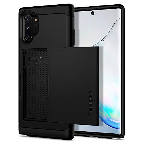 Spigen Funda para Galaxy Note 10 Plus/Note 10+ Slim Armor CS con Delgado de Doble Capa, diseñado para Guardar 2 Tarjetas con Extra protección - Negro