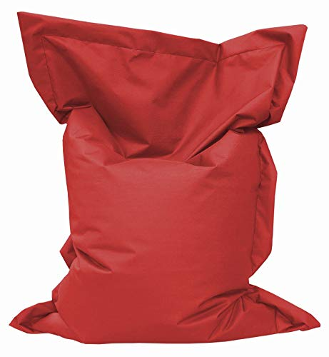 GiantBag Giant Bag Sitzsack Chill Out Liege & Sitzkissen Indoor & Outdoor Tobekissen Bodenkissen Sessel für Kinder & Erwachsene(200 x 145 cm, Rot)