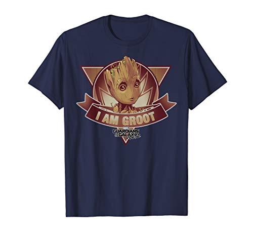 Marvel Guardians Vol. 2 I Am Groot Banner Graphic T-Shirt C2