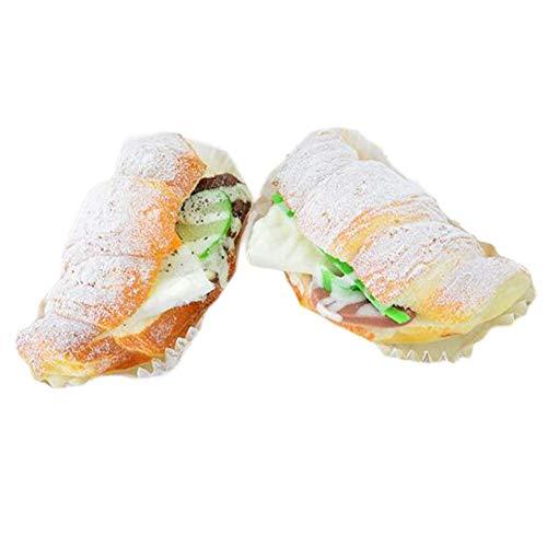 Pigeon Fleet 6 Piezas de Pan Artificial Falso sándwich Croissant Simulación Alimento del Partido Atrezzo Fotografía Modelo de Cocina Pan del jamón decoración