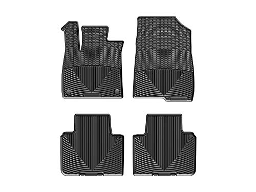 WeatherTech All-Weather Floor Mats for Honda Accord - 1st & 2nd Row (Black)