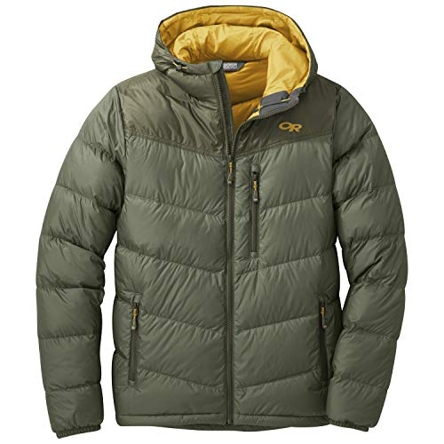 Outdoor Research Men's Transcendent Down Hoody, Basil/Juniper, Medium
