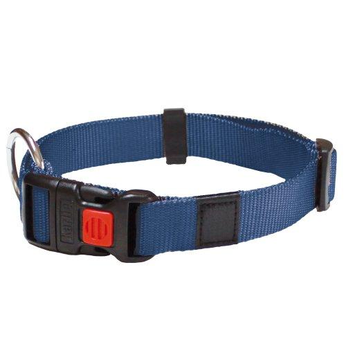 Karlie Art Sportiv Plus Halsband.25 mm 45-65 cm, Nachtschattenblau, Verstellbar