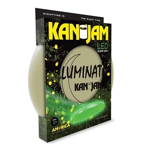 KanJam Illuminate LED Flying Disc Frisbee Wurfscheibe Leuchtend - Outdoor Nacht Frisbee Spiel für Garten, Strand, Park - 27,9 cm Durchmesser - 168g - Robuste 100% recyclebare Kunststoffscheibe