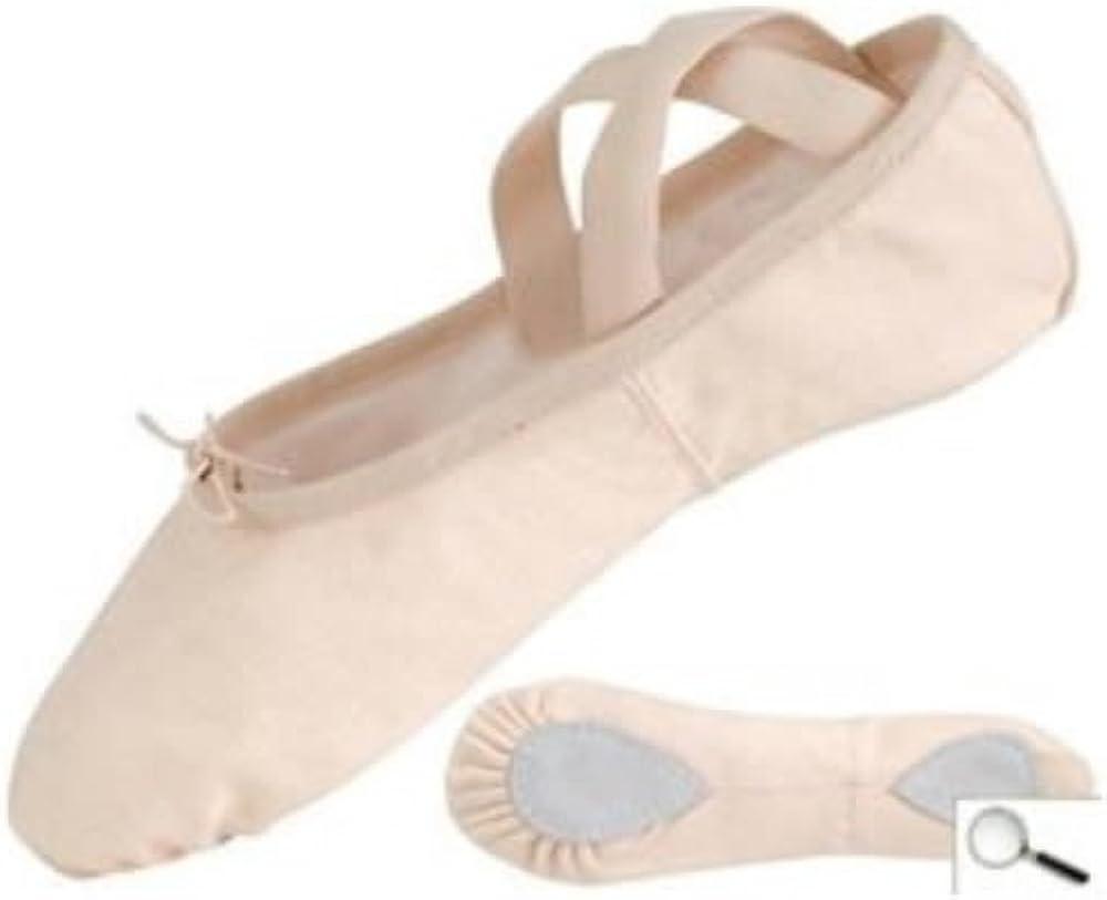 Split Sole Canvas Ballet (2.5) Pink