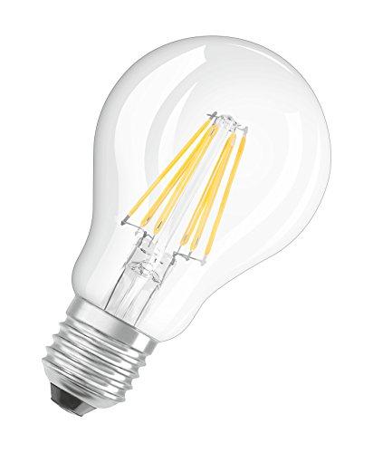 Osram LED Superstar Classic A, in Kolbenform mit E27-Sockel, Dimmbar, Ersetzt 60 Watt, Filamentstil Klar, Warmweiß – 2700 Kelvin, 1er-Pack - 6
