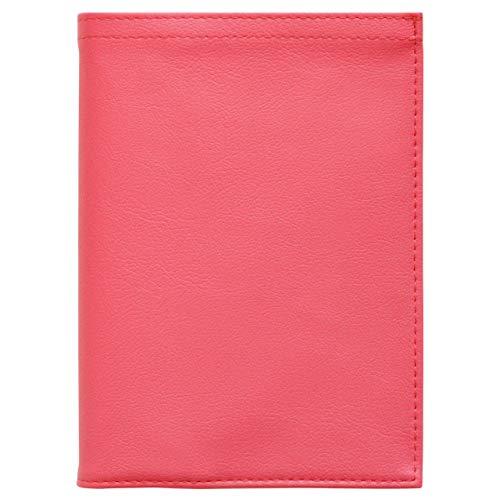 TEES FACTORY 国産 PVC レザー 手帳 カバー (A5用) ピンク