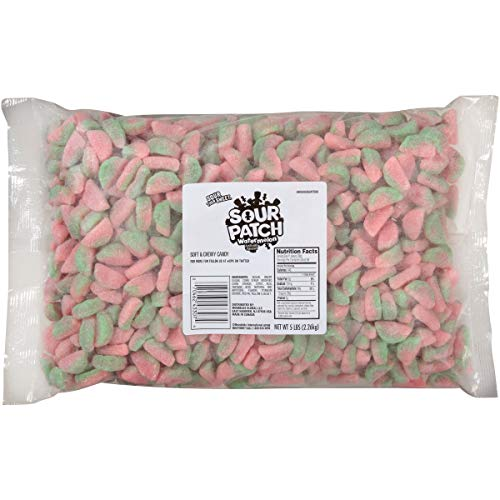 SOUR PATCH KIDS Watermelon Soft & Chewy Candy, 5 lb Bag
