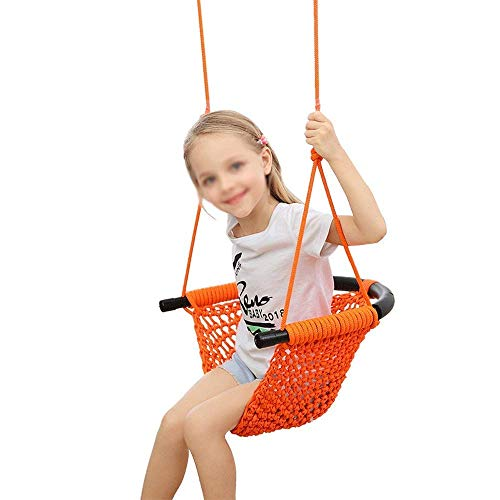 BSJZ Asiento de Columpio para niños Cuerda de Emergencia Columpio para niños Silla de Columpio para niños de 2 a 15 años Patio de Juegos/Interior/Exterior/Jard
