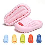 Toddler Girl's Slippers Boy Pillow Slides Sandals Kid's Quick Dry Slippers Baby Anti-collision Child Soft Non-slip Solid Massage Slipper for Bedroom House Shower Pool Bath Beach Indoor GREMBEB