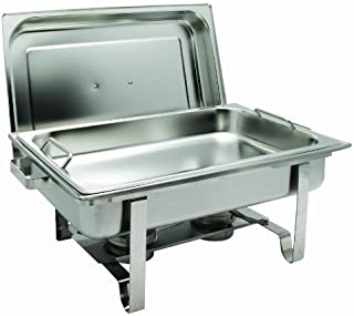 Get-A-Grip Chafer with Food Pan Handles C-2080B 8Qt Stainless Steel by Winco