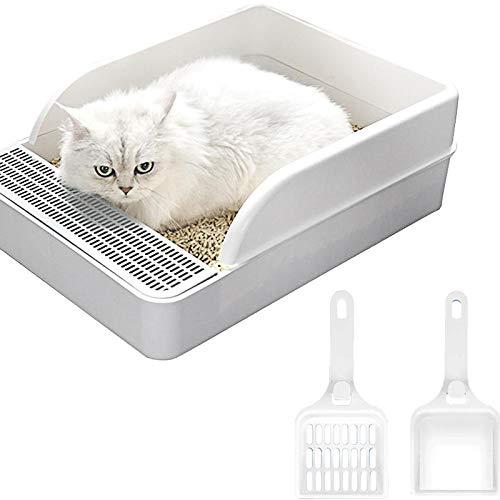 Kattenbak anti-spat semi-gesloten deodorant hondentoilet bedpan kattenbak pan zandbak met schep voor katten kleine honden