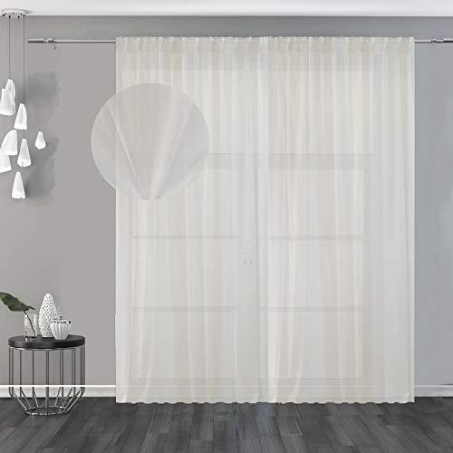 Degradé - Cortina semifiltrante bicolor, muy elegante y de excelente factura para dar un toque moderno y Urban Style a la casa y calentar el ambiente (150 x 260 cm)