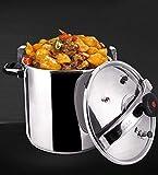 Cocina de presión de acero inoxidable comercial de gran capacidad, olla de cocción a prueba de gas a prueba de explosiones...