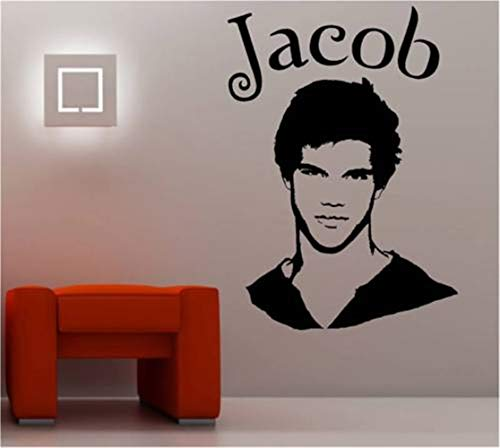 Vinly Art Decal Woorden Quotes Jacob Taylor Lautner Film Pop Star Poster Mural Décor voor Jongens Slaapkamer Woonkamer 19.5x24.4 inch