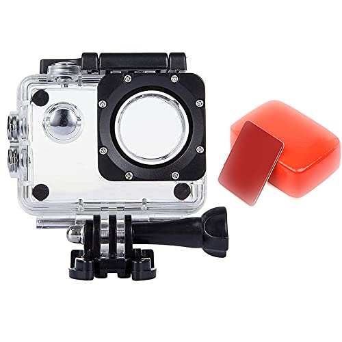 VVHOOY Action Camera Waterproof Case,Protection Housing Case and Camera Float Sponge Compatible with AKASO EK7000/Vemont/Remali/COOAU/HLS/Jadfezy Action Camera Outdoor Sports