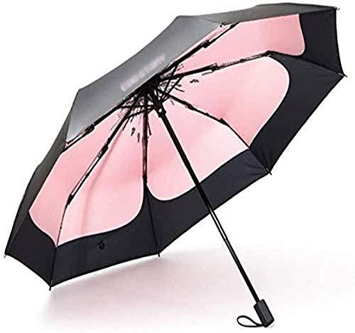 MGEE Sombrilla para exteriores con protección solar UV ultraligera y plegable de doble uso para acomodar a 1-2 personas (color: B)