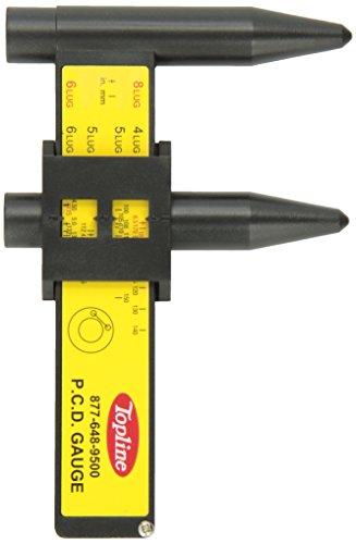 Topline Products Wheel & Stud Bolt Pattern Gauge | 4 5 6 8 Lug | PCD Ruler | Sliding Measurement Tool