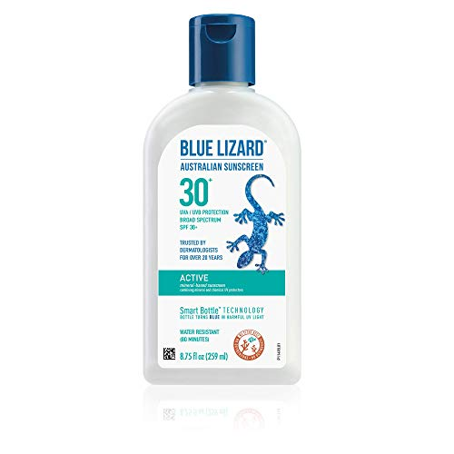 BLUE LIZARD Active Mineral Sunscreen with Zinc Oxide/SPF 30+, Unscented, 8.75 Fl Oz New Jersey