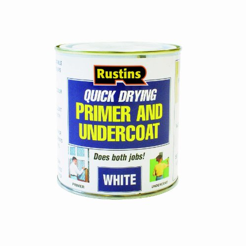 Rustins WHPU250 250ml Quick Dry Primer/ Undercoat - White by Rustins