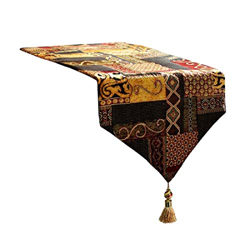 Artbisons Table Runner Gold Illusion 95x13 Thickly Fashion Handmade Tablerunner