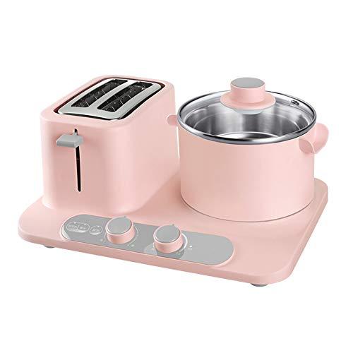 NAFE Máquina de Desayuno Multifuncional Tres en uno, tostadora de electrodomésticos de 1320 vatios/tostadora Tostadora de hogar, Embalaje de Caja de Regalo-Pink