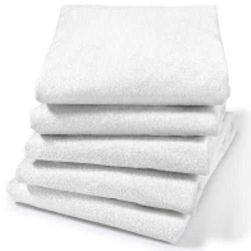Dr Güstel Waschfaserlaken ® PRO SELECT Spannbezug PU + Frottee 1 Stück weiss 70x190x10 cm für die Behandlungsliege Massageliege Kosmetikliege STANDARD 100 by OEKO-TEX® zertifiziert