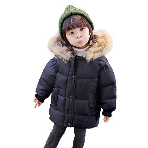 Hawkimin_Babybekleidung Hawkimin Baby Mädchen Winter Einfarbig Mode Mantel Jacke Starke warme mit Kapuze Kleidung