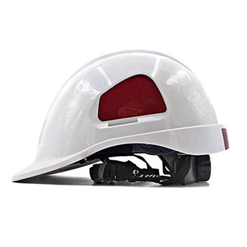 H-O Schutzhelm Arbeitshelm, Schutzhelm, sehr Leichter Bauhelm Bauarbeiterhelm mit Belüftung Hard hat,White