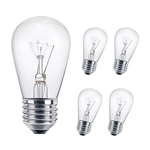 SUNTHIN 11 Watt S14 Clear Incandescent Light Bulb for Outdoor String Lights Replacement, Patio Lights Replacement with 2700K Vintage Edison Style (5 Pack)
