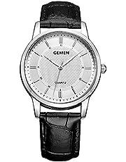 最新型 腕時計 メンズ 超薄型 9MM ククラッシー 本革製のブレスレット 日本製クォーツムーブメント 40mm文字盤 30m生活防水 人気 ビジネス 男女兼用 安い ブラック
