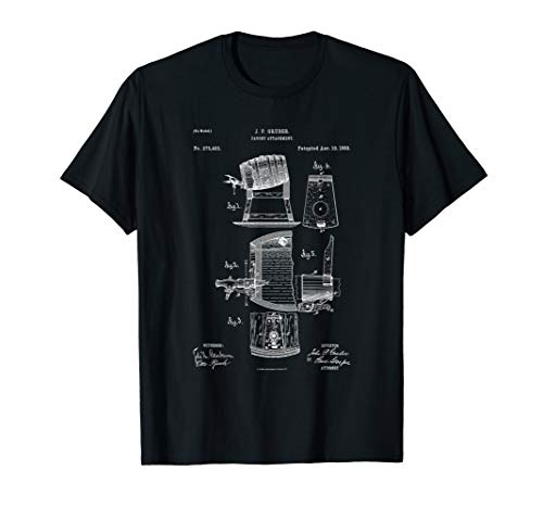 Keg Beer Tap 1888 Patent Vintage Blueprint - Craft Beer T-Shirt