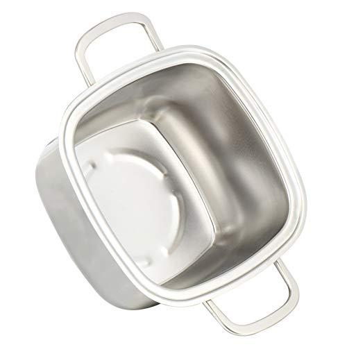 Cabilock Olla Caliente Cuadrada Olla de Cocina de Acero Inoxidable Olla de Fondue Pequeña Freidoras de Fondue para La Cocina Casera