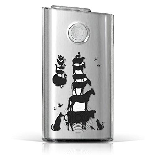 glo グロー グロウ 専用 クリアケース クリアカバー タバコ ケース カバー 透明 ハードケース カバー 収納 デザイン ポリカーボネートアニマル 動物 影 ブレーメン 005955