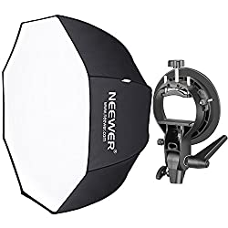 Neewer 80 centimeter octagonal softbox with S-type bracket (with Bowens mounting) and carrying case for Speedlite Studio Flash mono light, portrait and product photography