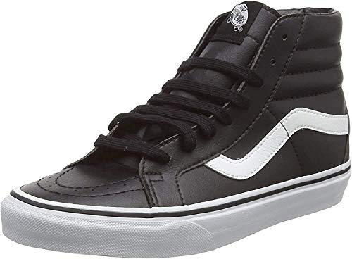Vans Unisex-Erwachsene Sk8-hi Reissue Leather Sneaker, Schwarz (Classic Tumble/Black/True White), 43 EU