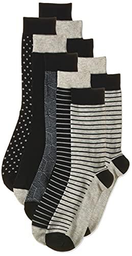 Jack & Jones JACLIGHT Grey Sock 5 Pack Noos Calcetines, Gris Claro. Detalles: Gris Claro Jaspeado – Gris Claro Jaspeado – Gris Claro Jaspeado – Gris Claro Jaspeado, Talla única para Hombre