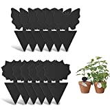 Sticky Fly Trap and Fungus Gnat Traps Killer for White Flies, Mosquitos, Fungus Gnats, Other Flying Insects, Kitchen Indoor and Outdoor Protect The Plant, Non-Toxic and Odorless (12-Black)