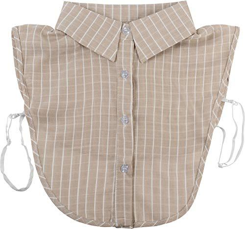 styleBREAKER Dames blouse kraaginzet met krijtstreepmotief en knoopsluiting, kraag voor blouses en truien, Business Style 08020009