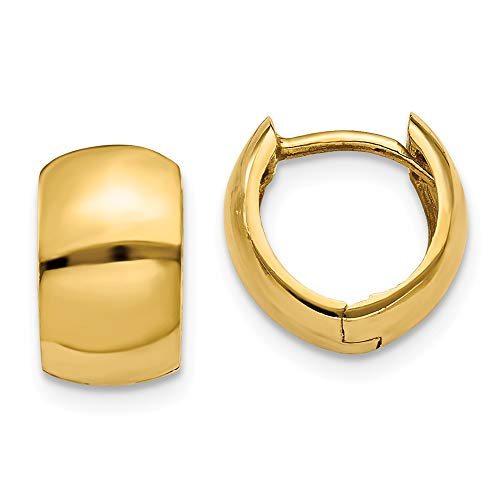 14k Yellow Gold Round Hinged Hoop Earrings Ear Hoops Set Fine Jewelry For Women Gifts For Her
