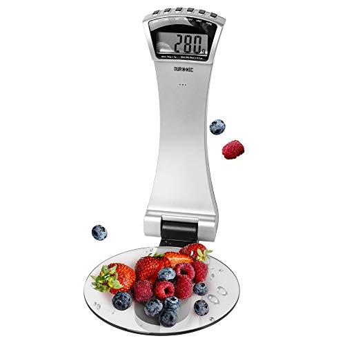 Duronic KS4000 Balance de cuisine argentée   Capacité de 3 kg   Fixations murales   Minuterie   Large écran numérique   Fonction d'ajout de poids   Idéale pour la pâtisserie ou comme balance postale
