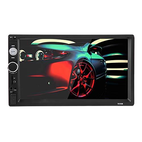 Keenso - Reproductor estéreo MP5 para coche, 7 pulgadas, HD, 2 Din, Bluetooth, pantalla táctil, radio FM, reproductor de medios de comunicación TF, USB, AUX, mando a distancia, manos libres