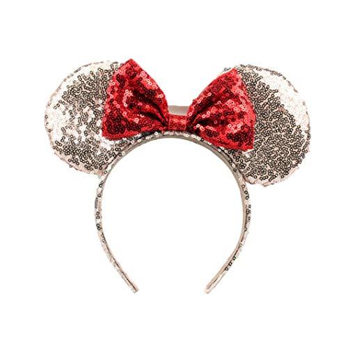 Nette Mickey Mouse-Ohren Stirnband Schmetterling Glitter Haarband Für Mädchen