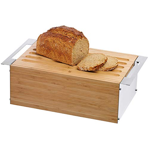 WMF Gourmet Brotkasten 43 x 25 x 15 cm, Bambus, Brotdose, Brotbox mit abnehmbarem Schneidbrett