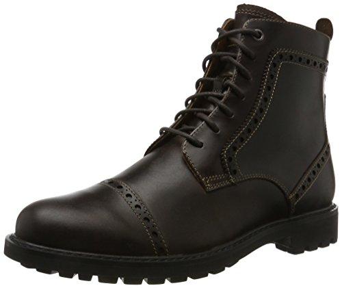 Clarks Herren Montacute Cap Klassische Stiefel, Braun (Dark Brown Lea), 44 EU (9.5 UK)
