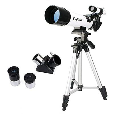 SVBONY SV25 Kids Telescope for Beginner Adult 60mm Travel Scope with Tripod Eyepiece Finder Scope