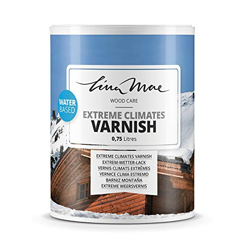 Extreme Climates Varnish with Gloss Finish Water-Based - Decorates and Protects Exterior Wood with Special Resistance in Mountainous Environments Ideal for Furniture (750 ml, Colourless)
