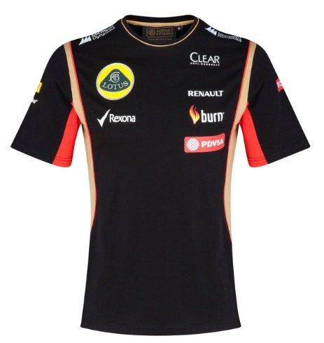 T Camisa Camiseta para Hombre de fórmula uno 1Lotus F1Team pedevesa patrocinador 2014/5XS