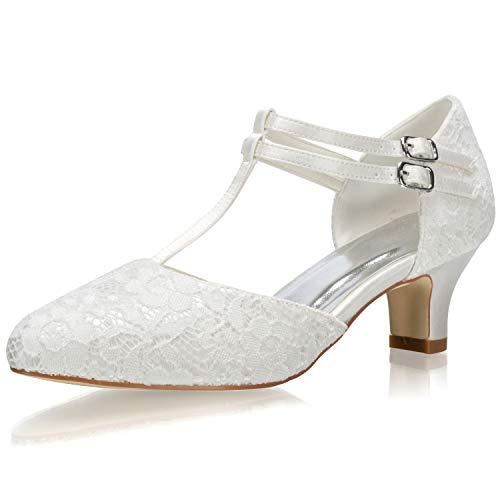 JIAJIA 00968 De Las Mujeres Zapatos de Novia Dedo del pie Cerrado...